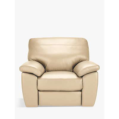 John Lewis Camden Leather Recliner Armchair, Dark Leg