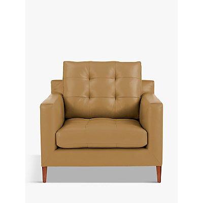 John Lewis & Partners Draper Leather Armchair, Dark Leg