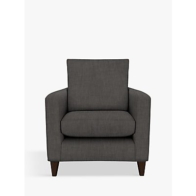 John Lewis & Partners Bailey Armchair, Dark Leg, Fraser Steel