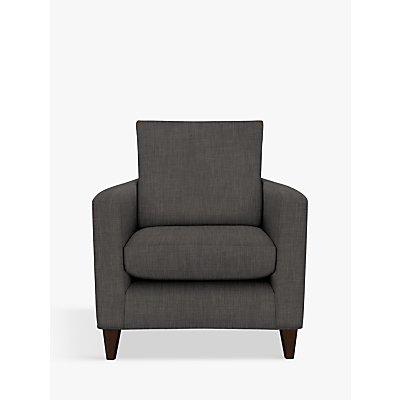 John Lewis & Partners Bailey Armchair, Dark Leg, Fraser Steel