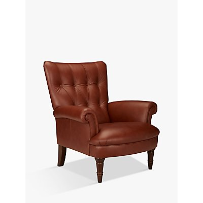John Lewis Hambleton Leather Armchair, Dark Legs