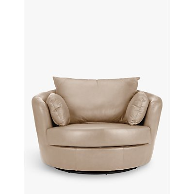 John Lewis Antonio Leather Swivel Chair