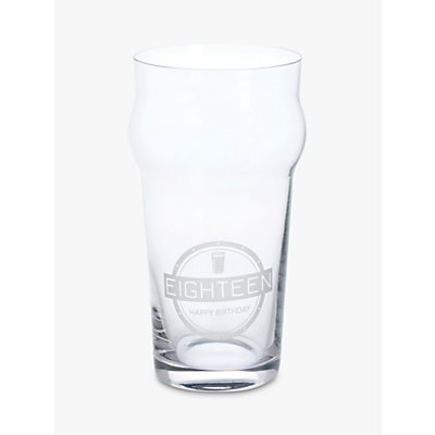 John Lewis   Partners Something Special 18th Birthday Gift Boxed Beer Glass  340ml  Clear - 24375528