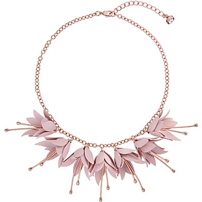Ted Baker Fawna Fuchsia Drop Flower Necklace  Rose Gold Pink - 5055336360217