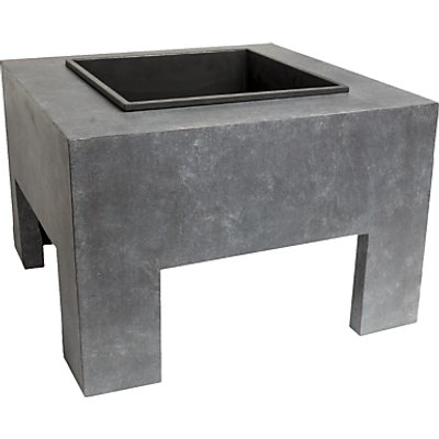 Ivyline Square Firepit, Grey/Black