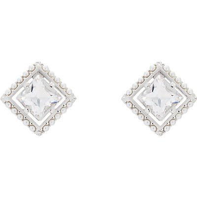 Ted Baker Payge Faux Pearl Frame Swarovski Crystal Square Stud Earrings - 5055336364321
