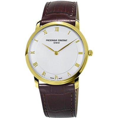 Fr  d  rique Constant FC 200RS5S35 Men s Automatic Leather Strap Watch  Brown White - 7688200250499