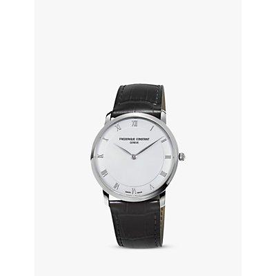 Fr  d  rique Constant FC 200RS5S36 Men s Automatic Leather Strap Watch  Black White - 7688200250505