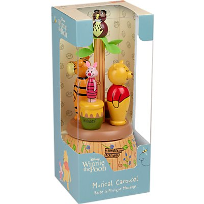 Orange Tree Winnie the Pooh Musical Carousel Box