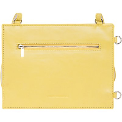 French Connection Dexter Upside Down Cross Body Bag, Summer White/Dark Citron