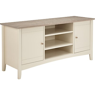 John Lewis & Partners Alba TV Stand for TVs up to 60, Washed Grey