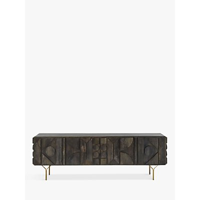 west elm Pictograph TV Stand Sideboard for TVs up to 70, Black