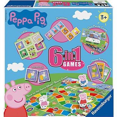 Ravensburger Peppa Pig 6 in 1 Games Set