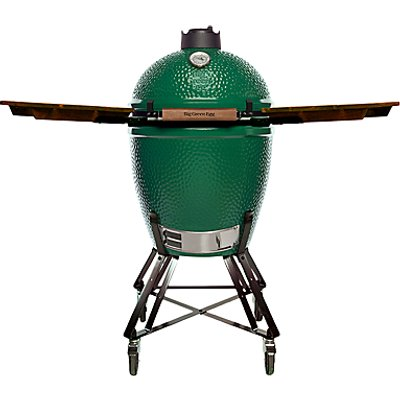 Big Green Egg Large Nest BBQ with Wood Shelves Bundle