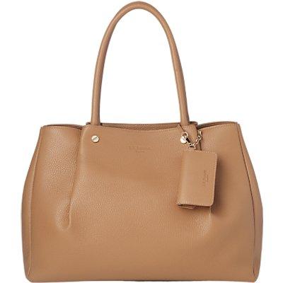 L.K.Bennett Regan Leather Tote Bag , Light Tan
