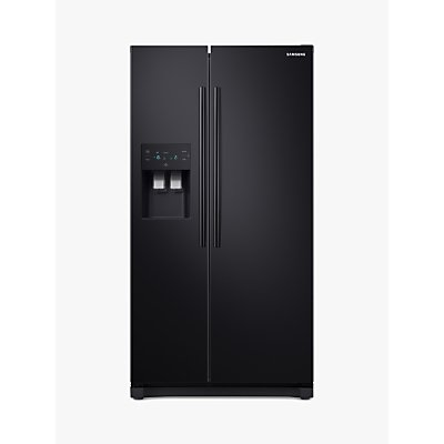 Samsung RS50N3413BC American-Style Freestanding 65/35 Fridge Freezer, A+ Energy Rating, 91cm Wide, B