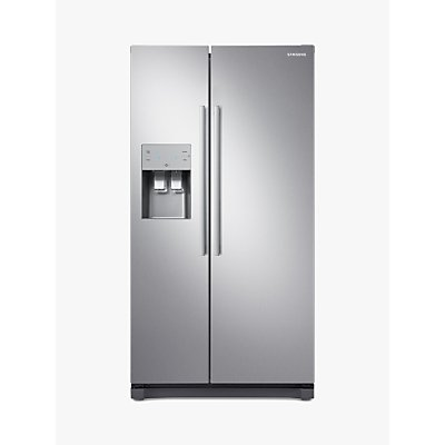 Samsung RS50N3513SL American-Style Freestanding 65/35 Fridge Freezer, A+ Energy Rating, 91cm Wide, S