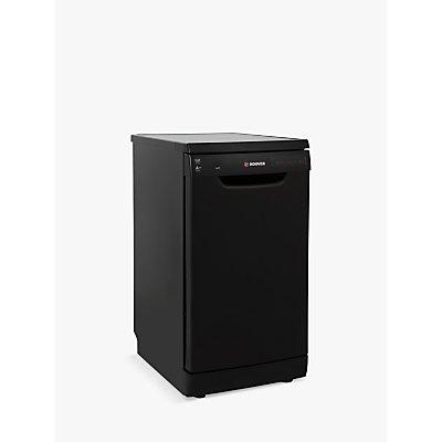 Hoover HDP2D62W Freestanding Slimline Dishwasher, Black