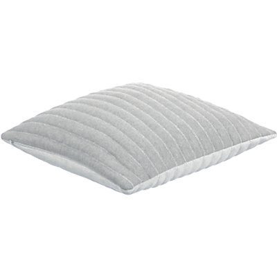 little home at John Lewis Reversible Ribbed Cushion  Grey - 24684620