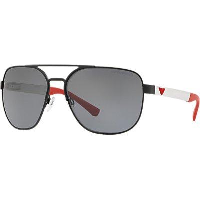 Emporio Armani EA206462 Men s Polarised Aviator Sunglasses  Black Red - 8053672882377