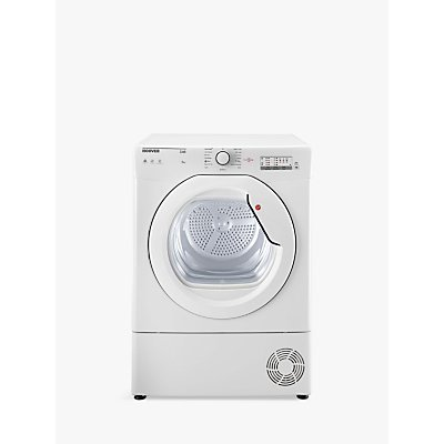 Hoover HLC8LG-80 Freestanding Condenser Tumble Dryer with NFC, 8kg Load, B Energy Rating, White