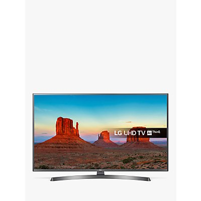 LG 65UK6750PLD LED HDR 4K Ultra HD Smart TV, 65 with Freeview Play/Freesat HD & Crescent Stand, Ultra HD Certified, Metallic Grey & Black