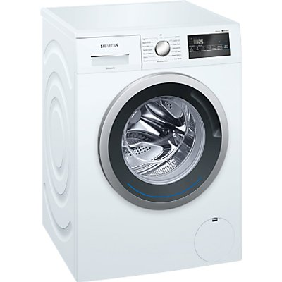 Siemens WM12N201GB Freestanding Washing Machine, 8kg Load, A+++ Energy Rating, 1200rpm Spin, White