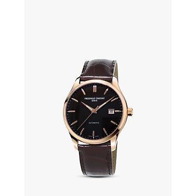 Fr  d  rique Constant FC 303C5B4 Men s Classic Index Automatic Date Leather Strap Watch  Brown Black - 7688200242050