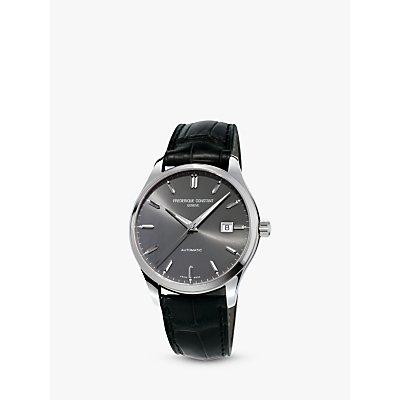 Fr  d  rique Constant FC 303LGS5B6 Men s Classic Index Automatic Date Leather Strap  Black Grey - 7688200301344