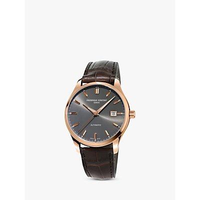 Fr  d  rique Constant FC 303LGR5B4 Men s Classic Index Automatic Date Leather Strap Watch  Brown Grey - 7688200301320