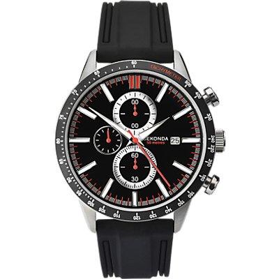 Sekonda 1594 27 Men s Chronograph Date Rubber Strap Watch  Black - 5051322015949