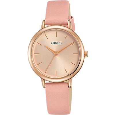 Lorus Women s Leather Strap Watch - 4894138339424