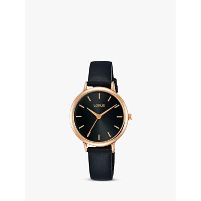 Lorus Women s Leather Strap Watch - 4894138339431
