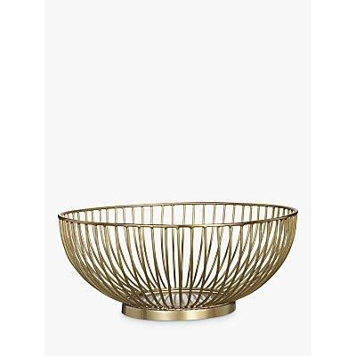 John Lewis   Partners Wire Serving Bowl  Dia 25cm  Gold - 24685177