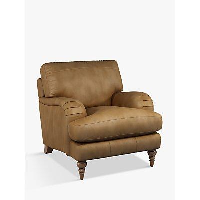 John Lewis & Partners Otley Leather Armchair, Dark Leg