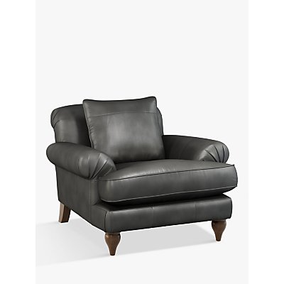 Croft Collection Findon Leather Armchair, Dark Leg