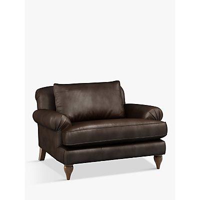 Croft Collection Findon Leather Snuggler, Dark Leg