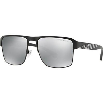 Emporio Armani EA2066 Men s Polarised Square Sunglasses  Black Mirror Grey - 8053672927801