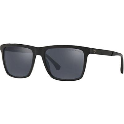 Emporio Armani EA4117 Men s Square Sunglasses  Black Mirror Grey - 8053672886269