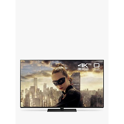 Panasonic TX-55FZ802B OLED HDR 4K Ultra HD Smart TV, 55 with Freeview Play/Freesat HD, Ultra HD Premium Certified, Black