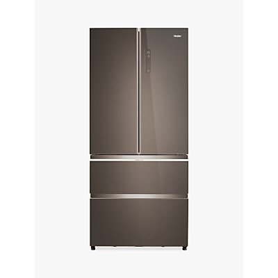 Haier HB18FGSAAA Slim American-Style Freestanding 70/30 Fridge Freezer, A++ Energy Rating, 83cm Wide