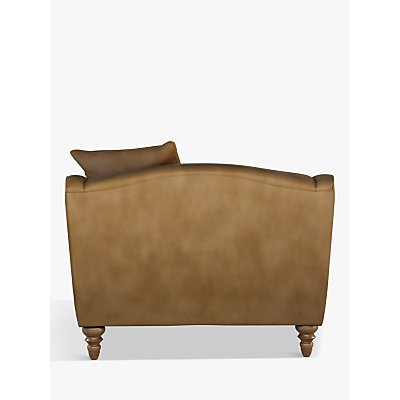 John Lewis & Partners Melrose Leather Snuggler, Dark Leg