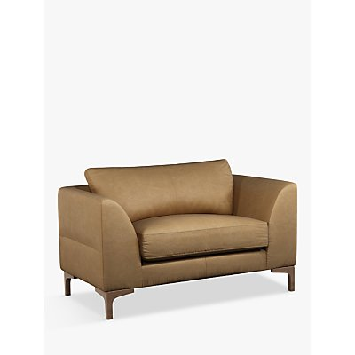John Lewis & Partners Belgrave Leather Snuggler, Dark Leg