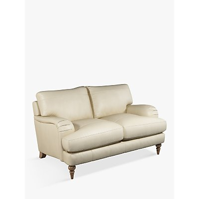John Lewis & Partners Otley Small 2 Seater Leather Sofa, Dark Leg