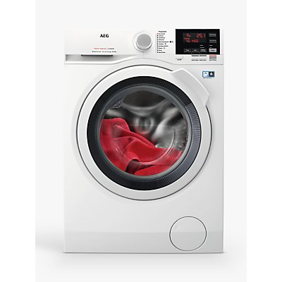 AEG L7WEG841R Freestanding Washer-Dryer, 8kg Wash/4kg Dry Load, A Energy Rating, White