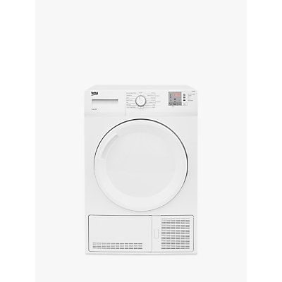 Beko DTGC8101W Condenser Tumble Dryer, 8kg Load, B Energy Rating, White
