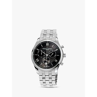 Fr  d  rique Constant FC 292MG5B6B Men s Chronograph Date Bracelet Strap Watch  Silver Black - 7688200301078