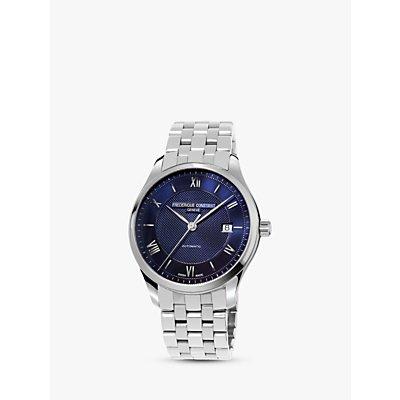 Fr  d  rique Constant FC 303MN5B6B Men s Classics Index Automatic Date Bracelet Strap Watch  Silver Blue - 7688200301184