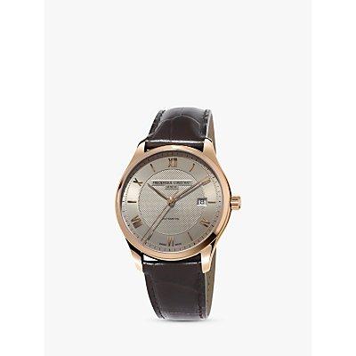 Fr  d  rique Constant FC 303MLG5B4 Men s Classics Automatic Date Leather Strap Watch  Brown Gold - 7688200300729