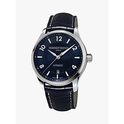 Fr  d  rique Constant FC 303RMN5B6 Men s Runabout Automatic Date Leather Strap Watch  Navy - 7688200300514